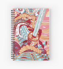 Samurai Moon Spiral Notebook