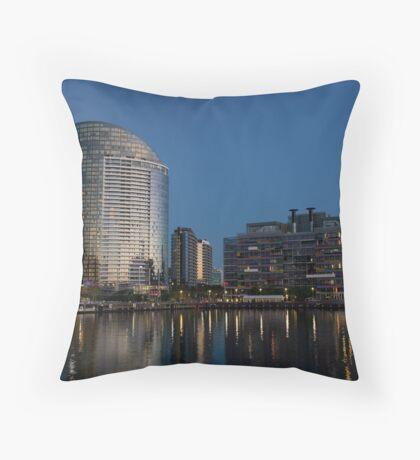 Vic harbor at dusk. Throw Pillow