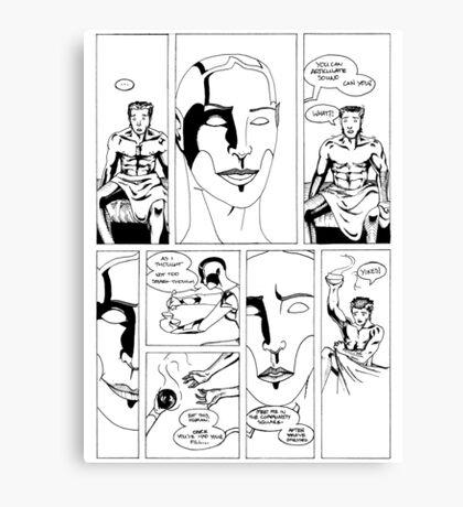 HSC Major Work Comic page 6 Canvas Print