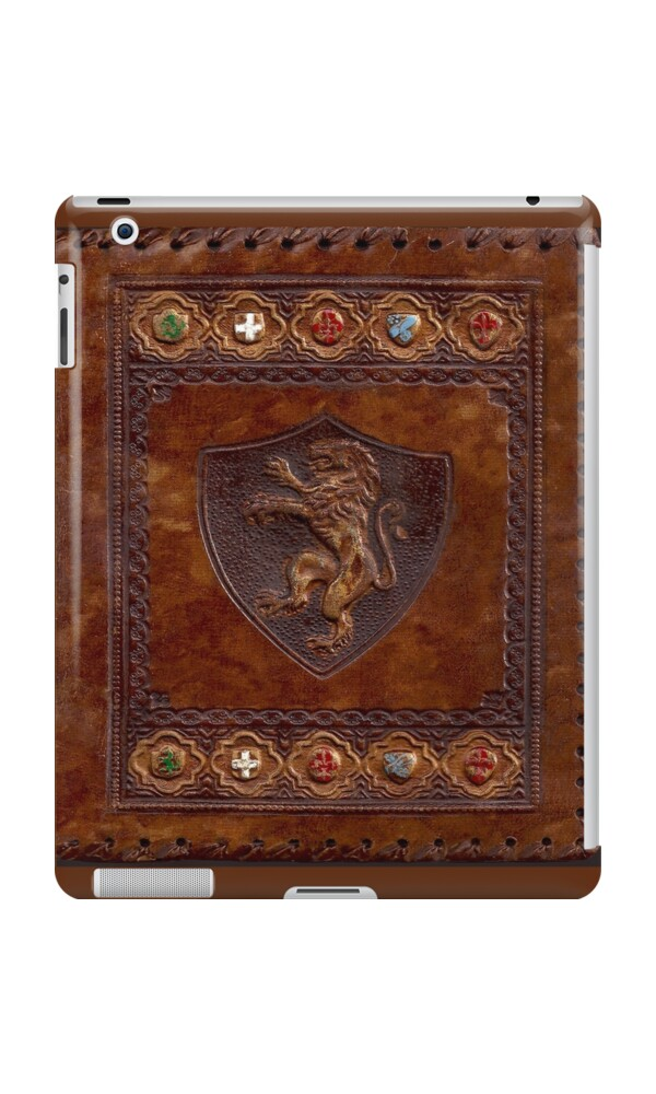 quothandtooled leather medieval book coverquot ipad cases