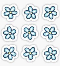 Blue Flowers (9 Multi Pack) Sticker