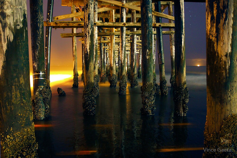 Tranquility Under a Barnacle Pier by Vince Gaeta
