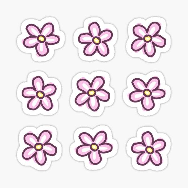 Pink Flowers (9 Multi Pack) Sticker