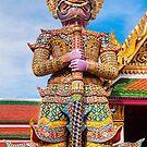 Guardian Of Wat Pra Kaew Grand Palace ,Bangkok by bulljup