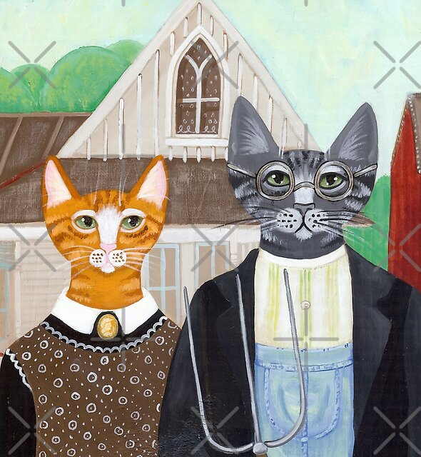Ameowican Gothic by Ryan Conners