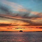 Sunrise over Ailsa Craig  by DerickGray
