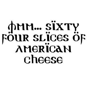 64 Slices of American Cheese by sarahbentvelzen