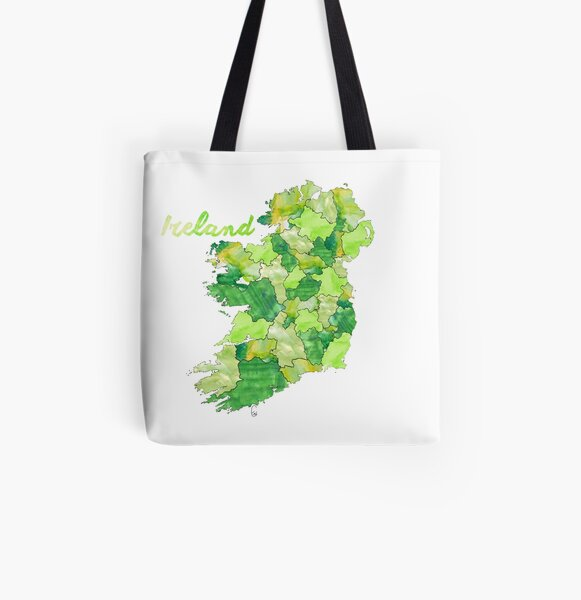 Watercolor Countries - Ireland All Over Print Tote Bag