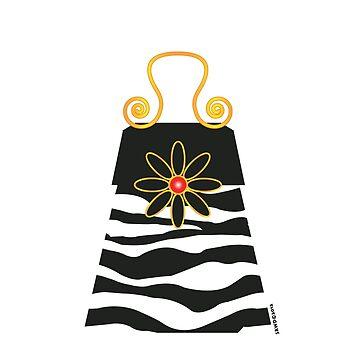 The Katy Bag / Black & White Zebra by srwdesign