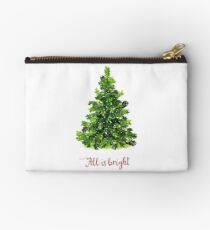 All is Bright Christmas Evergreen Tree Studio Pouch
