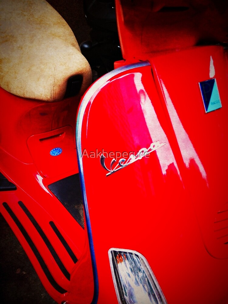 iPhoneography: Red Vespa  by Aakheperure