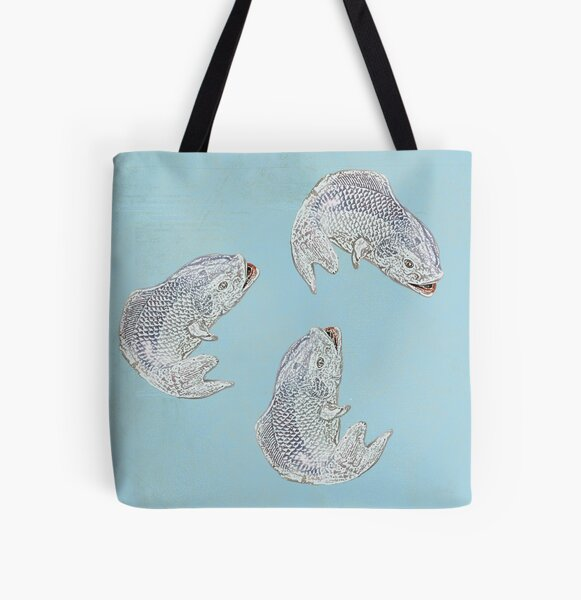 Fish are jumpin' All Over Print Tote Bag