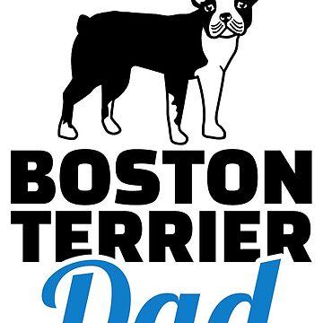 Boston terrier dad by Designzz