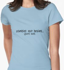 you're zombie food (black) Women's Fitted T-Shirt