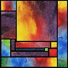 Watercolor Abstract  Blocks Bright Vivid Geometry by Irina Sztukowski