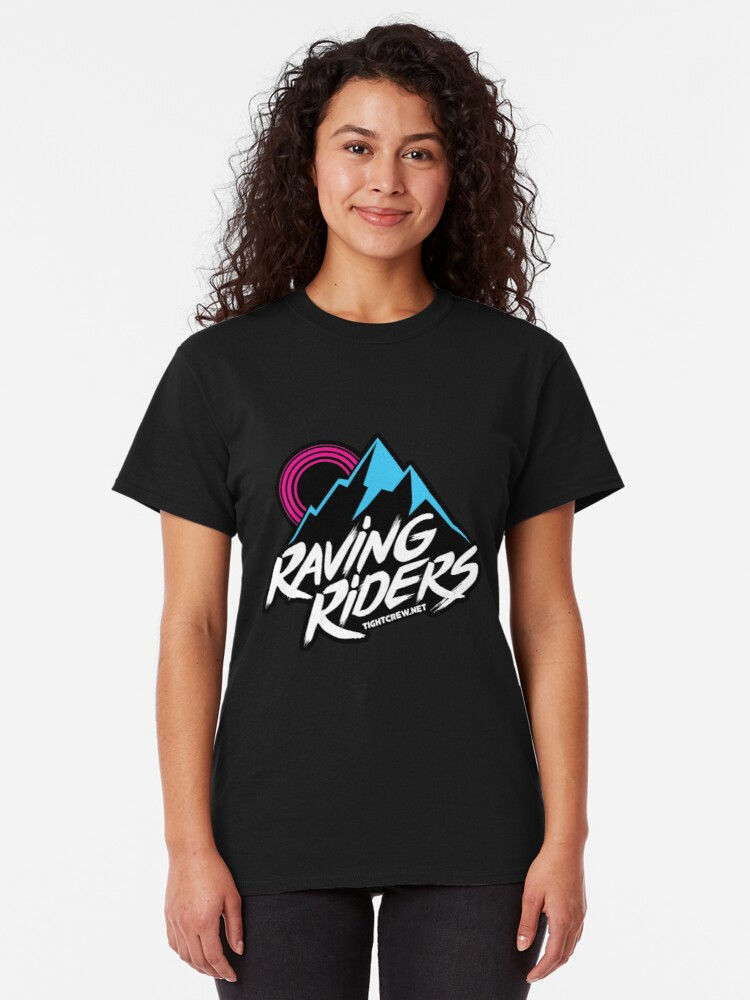 Alternate view of Tight Crew's Raving Riders Logo Classic T-Shirt