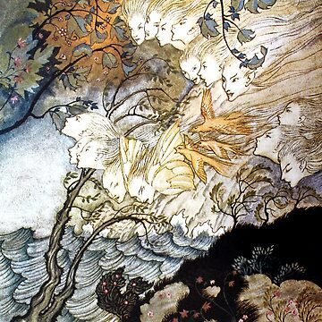 And Sometimes a Voice - The Tempest - Arthur Rackham by forgottenbeauty