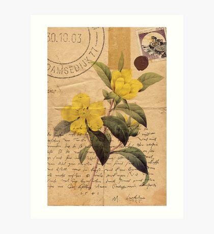 Love letter long lost Art Print