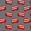 London Double Decker Buses by Pamela Maxwell