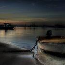 Big chain little boat by Murray Swift