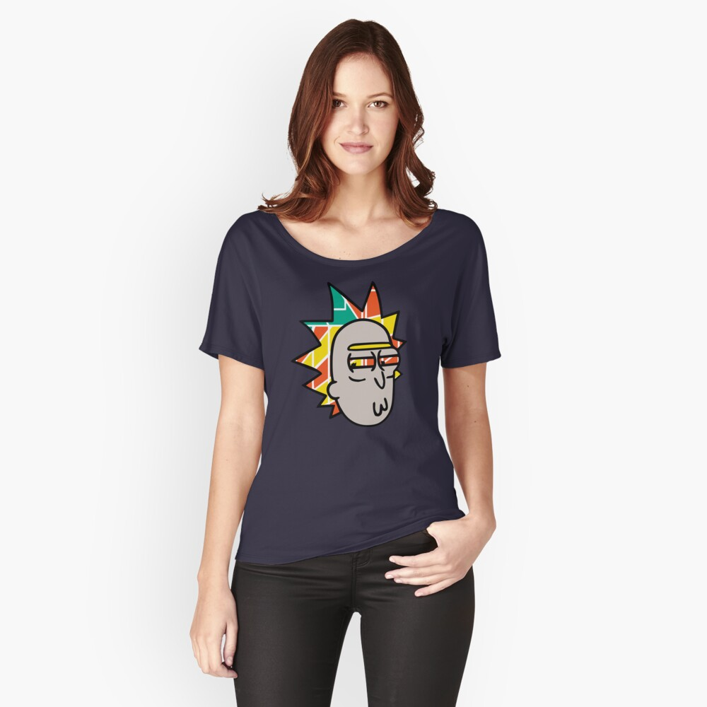 Rick Lips and Colorful Hair Relaxed Fit T-Shirt