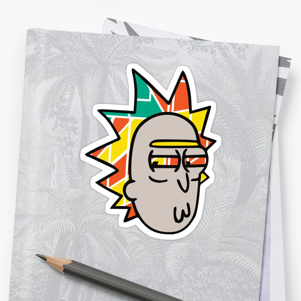 Rick Lips and Colorful Hair Sticker