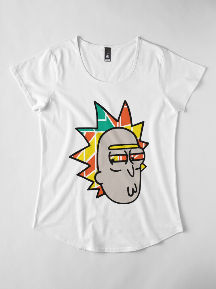 Alternate view of Rick Lips and Colorful Hair Premium Scoop T-Shirt