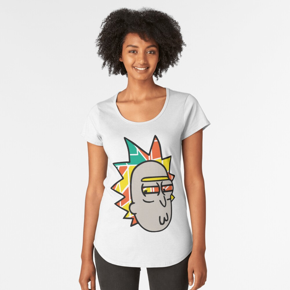 Rick Lips and Colorful Hair Premium Scoop T-Shirt