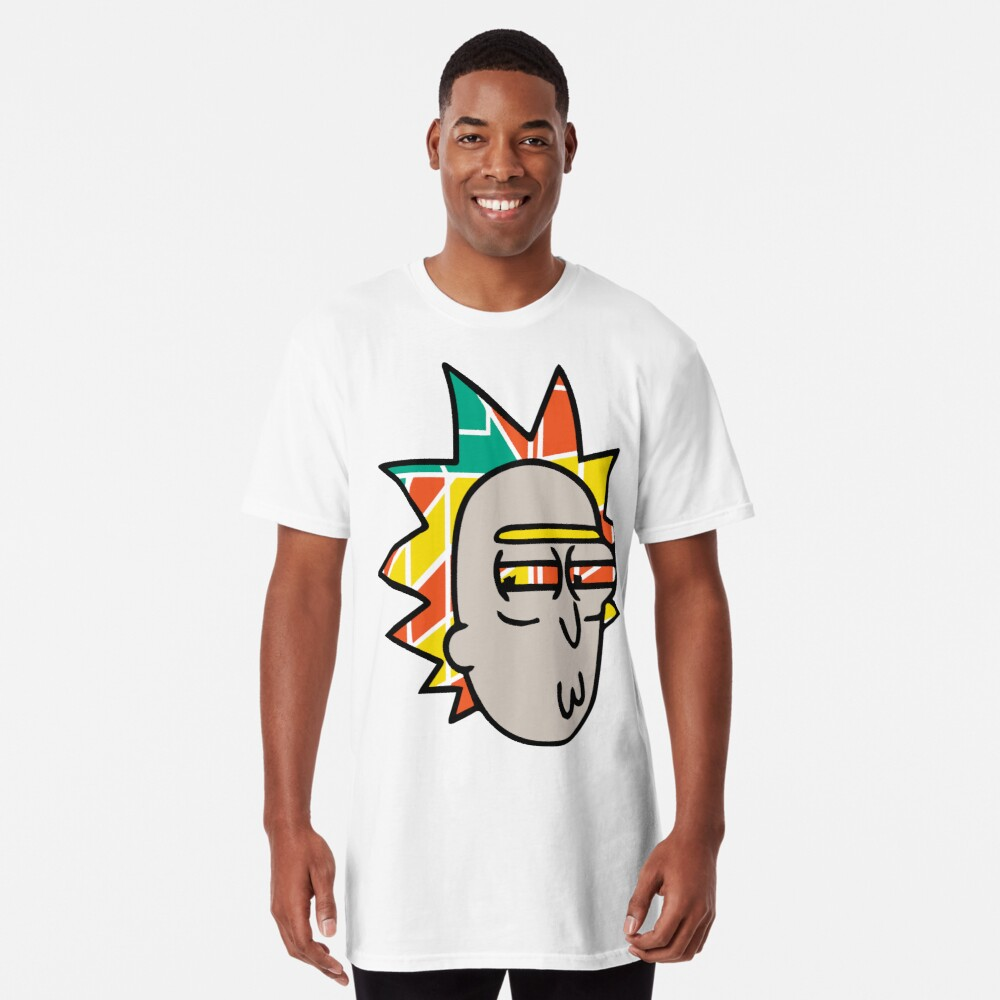 Rick Lips and Colorful Hair Long T-Shirt