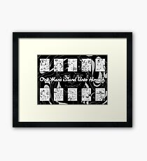 One Man's iSland Unto Himself. Compilation Framed Print