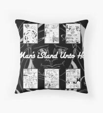 One Man's iSland Unto Himself. Compilation Throw Pillow