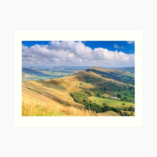 Peak District - The Great Ridge above Castleton, Derbyshire Art Print