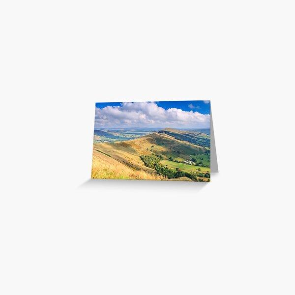 Peak District - The Great Ridge above Castleton, Derbyshire Greeting Card