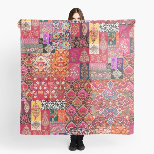 -A35- Traditional Colored Moroccan Artwork. Scarf