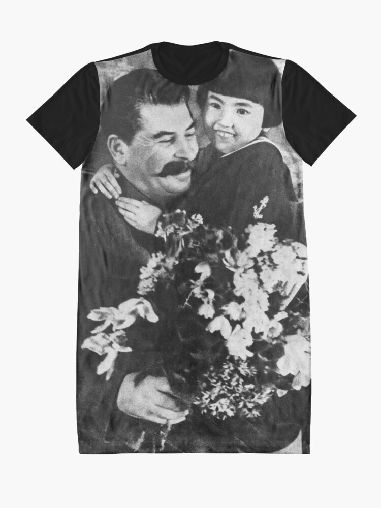 Alternate view of Stalins cult of personality #Сталин #ИосифВиссарионович #Ежов #Берия #Жданов #Молотов #Ленин #ГУЛАГ #Нориллаг #Культличности #репрессии #депортация #тюрьма #казнь #политзаключенный #Stalin Graphic T-Shirt Dress