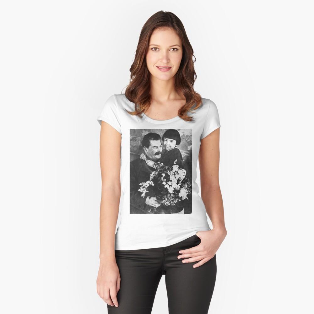 Stalins cult of personality #Сталин #ИосифВиссарионович #Ежов #Берия #Жданов #Молотов #Ленин #ГУЛАГ #Нориллаг #Культличности #репрессии #депортация #тюрьма #казнь #политзаключенный #Stalin Fitted Scoop T-Shirt