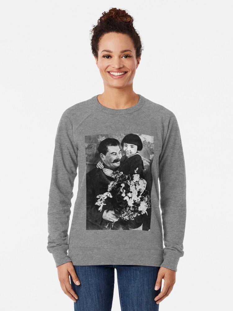 Alternate view of Stalins cult of personality #Сталин #ИосифВиссарионович #Ежов #Берия #Жданов #Молотов #Ленин #ГУЛАГ #Нориллаг #Культличности #репрессии #депортация #тюрьма #казнь #политзаключенный #Stalin Lightweight Sweatshirt