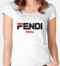 Camiseta entallada de cuello ancho Fendi Roma