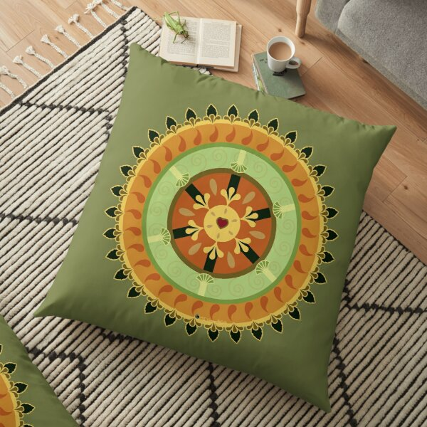 Citrus Heart Floor Pillow