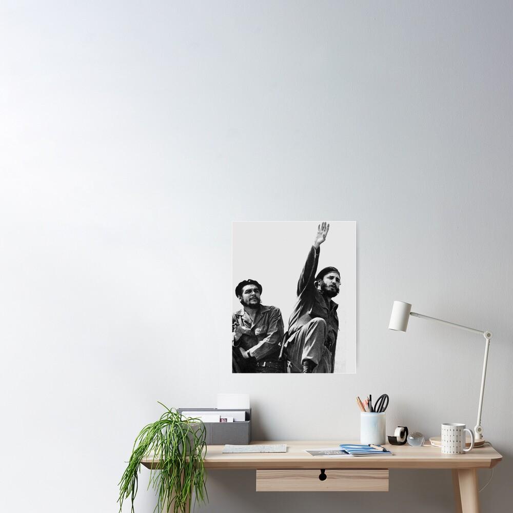 CHE GUEVARA AND FIDEL CASTRO ART PHOTO POSTER GIFT