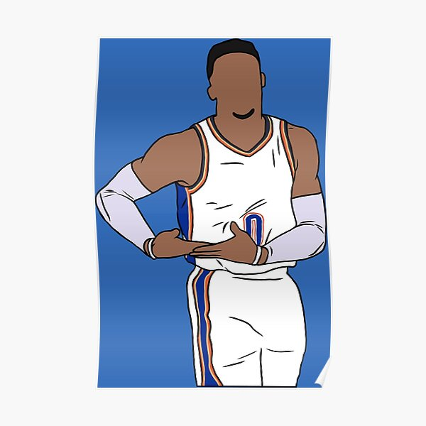 Russell Westbrook Rocks The Baby Poster