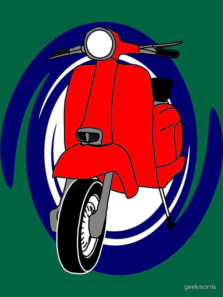 Red Lambretta by geekmorris