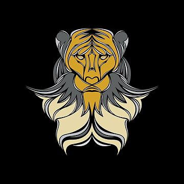 lion illustration by kasimi