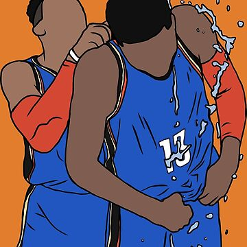 Russell Westbrook And Paul George Celebration by RatTrapTees