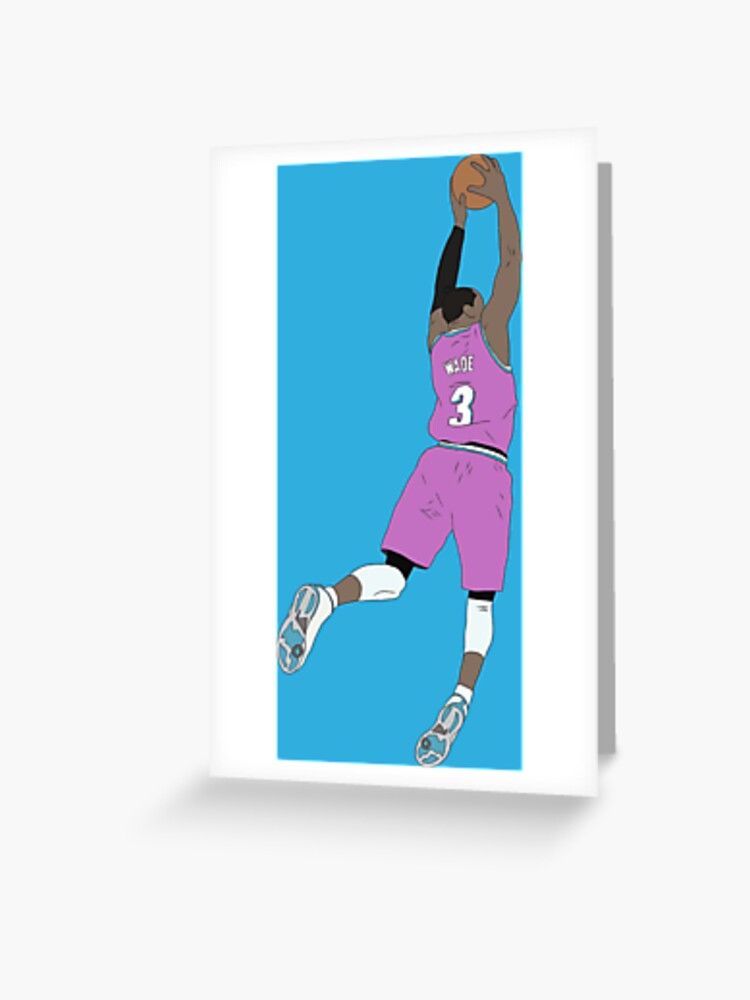 outlet store 3f6b2 63c05 Dwyane Wade Pink Miami Vice | Greeting Card