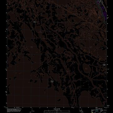 USGS TOPO Map Louisiana LA Bay Courant 20120413 TM Inverted by wetdryvac