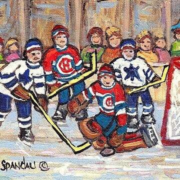 HOCKEY NIGHT IN MONTREAL FROM THE FORUM TO THE BELL CENTER CANADA'S WINTER SPORT C SPANDAU HOCKEY ARTIST by CaroleSpandau