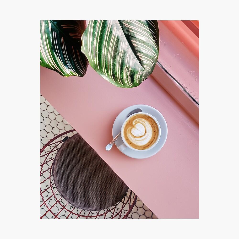 Pink Coffee  Photographic Print