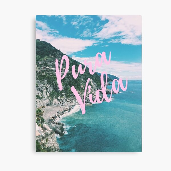copper foil poster beach sea rainbow quote REAL foil print nature photography