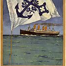 Vintage advertisement poster for Norddeutscher Lloyd  by edsimoneit